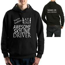 SKYLINE Awesome Driver Hoodie  Funny Birthday Gift Mens