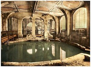 Bath-Roman-Baths-and-Abbey-Circular-Bath-Vintage-photochrome-print-ca-1890