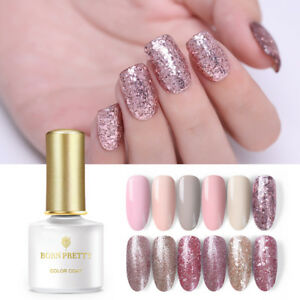 BORN-PRETTY-Glitter-Soak-Off-UV-Gel-Polish-Rose-Gold-Nail-Art-Gel-Varnish