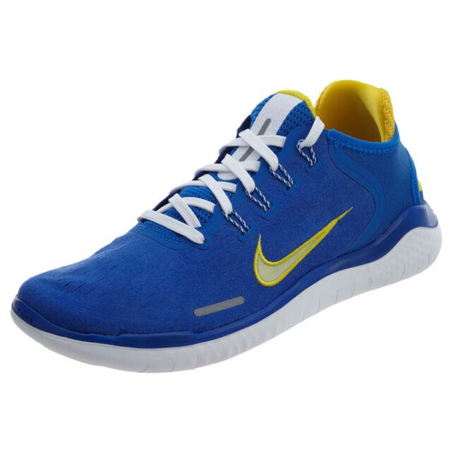 dcc069bebaf Nike Free Rn 2018 DNA Men s Running Shoes Hyper Cobalt Citron Tint AH7870  400