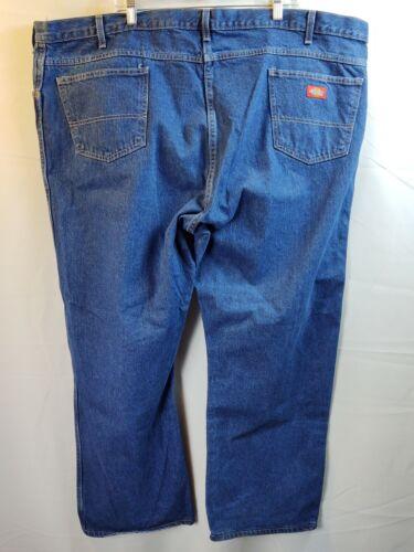 Dickie's Size Men's 50x30 Dark Blue Denim Work Jea