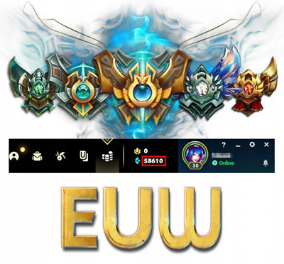 EUW League of Legends LOL Account Smurf 50.000 - 70.000 BE ...