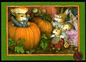 Halloween-Susan-Wheeler-Bunny-Rabbits-Pumpkin-Costumes-Princess-Greeting-Card