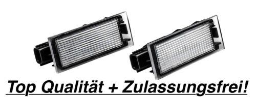 N06 2x LED Kennzeichenbeleuchtung Renault Megane III 3 BZ0 Schrägheck 1.5 dCi