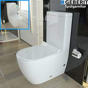 stand wc mit sp lkasten geberit sp lgarnitur keramik toilette duroplast wc sitz ebay. Black Bedroom Furniture Sets. Home Design Ideas