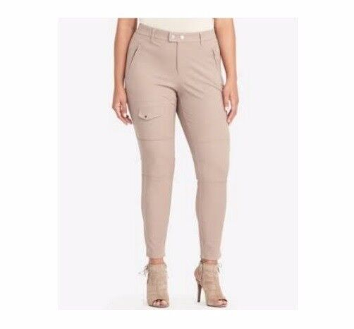 LAUREN RALPH LAUREN Size 16W Beige Tan Truffle Cargo Skinny Leg Pants