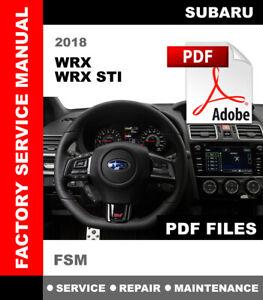 2018 Subaru Wrx Wrx Sti Interior Exterior Trim Install And Remove Manual Ebay