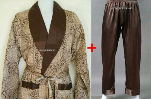 Kit de 2 Hommes Satin Soie Pyjama Pantalon KIMOMO robe robe US California Vendeur