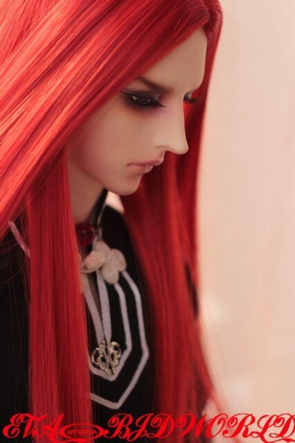 "Brand new 7~8"" 1/4 dollfie BJD MSD LUTS Red hair wig 58-4#"