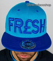Fresh Snapback, unisex dope flat peak fitted hats, baseball caps hip hop bling