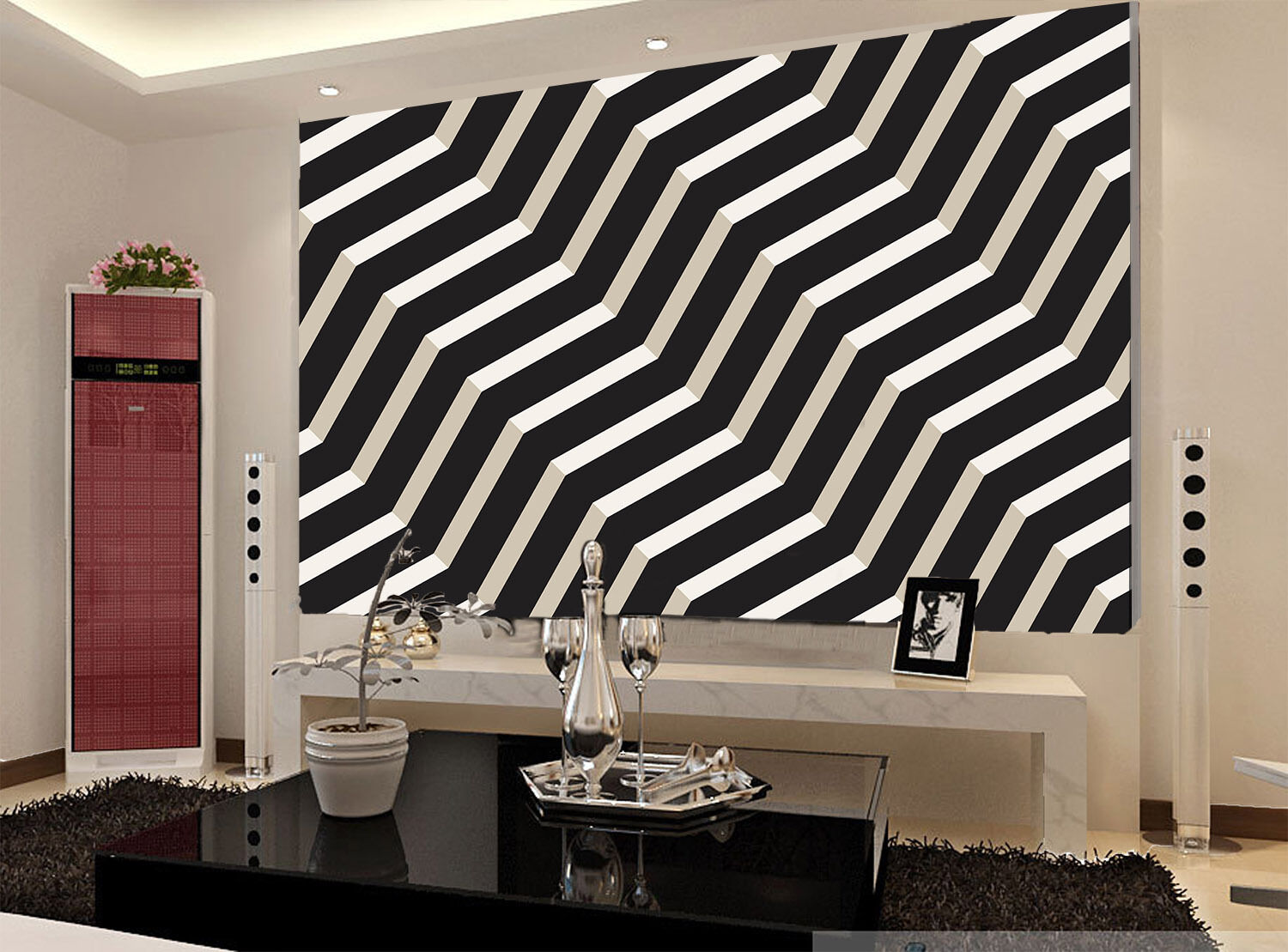 3D Polyline Stripes 934 Wall Paper Wall Print Decal Wall Deco Wall Indoor Murals