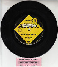 "ANNE HAWKER  Boom Bang-A-Bang 7"" 45 rpm vinyl record + juke box title strip"