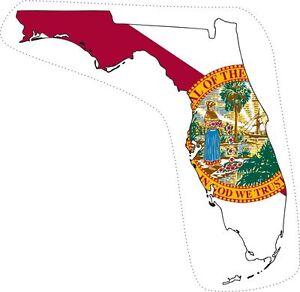 Sticker Decal Car Bike Bumper Florida Flag Map Usa United