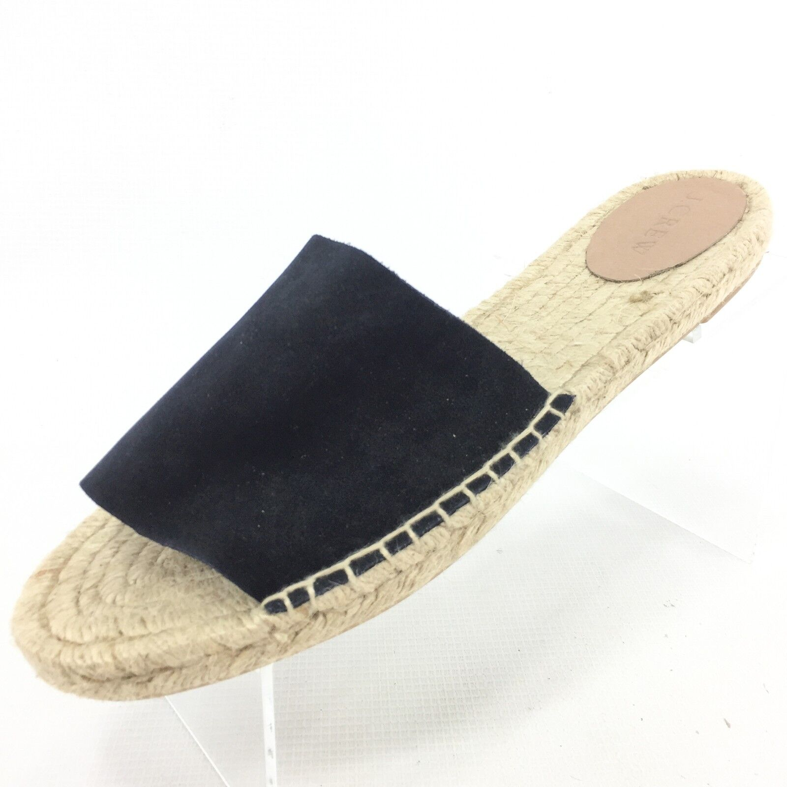 J.CREW Valencia bluee Suede Espadrilles Slides 10 Made in Spain NEW