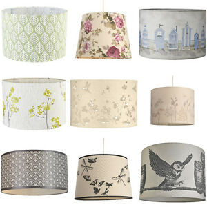 Image Is Loading Shabby Chic Drum Ceiling Light Shades Pendant New