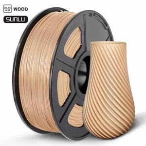 SUNLU 3D Drucker Niedertemperatur-Holz Filament 1,75 mm Holz 1 kg Spule NEU