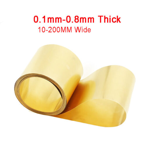 0.1//0.2//0.3//0.4//0.5//0.6//0.8mm dick Messingfolie Messingblech Messingplatte