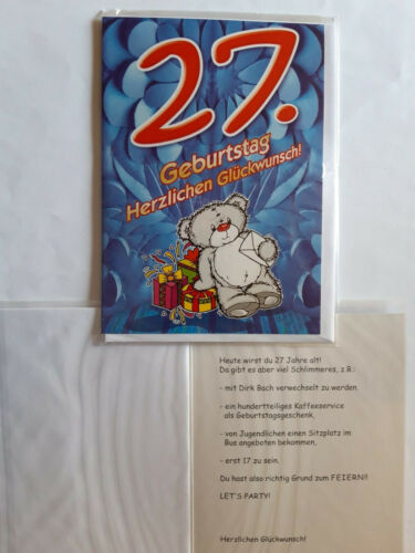 Grußkarte Twens Zwanziger Tiere Tier 1 Doppelkarte Umschlag Geburtstagskarte