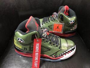 Jordan Retro 5 Custom War Hawk Air