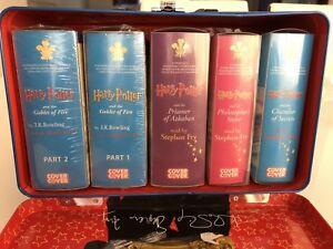 Harry-Potter-5-Complete-Book-34-Cassettes-Goblet-Of-Fire-Prisoner-Of-Azkaban-New