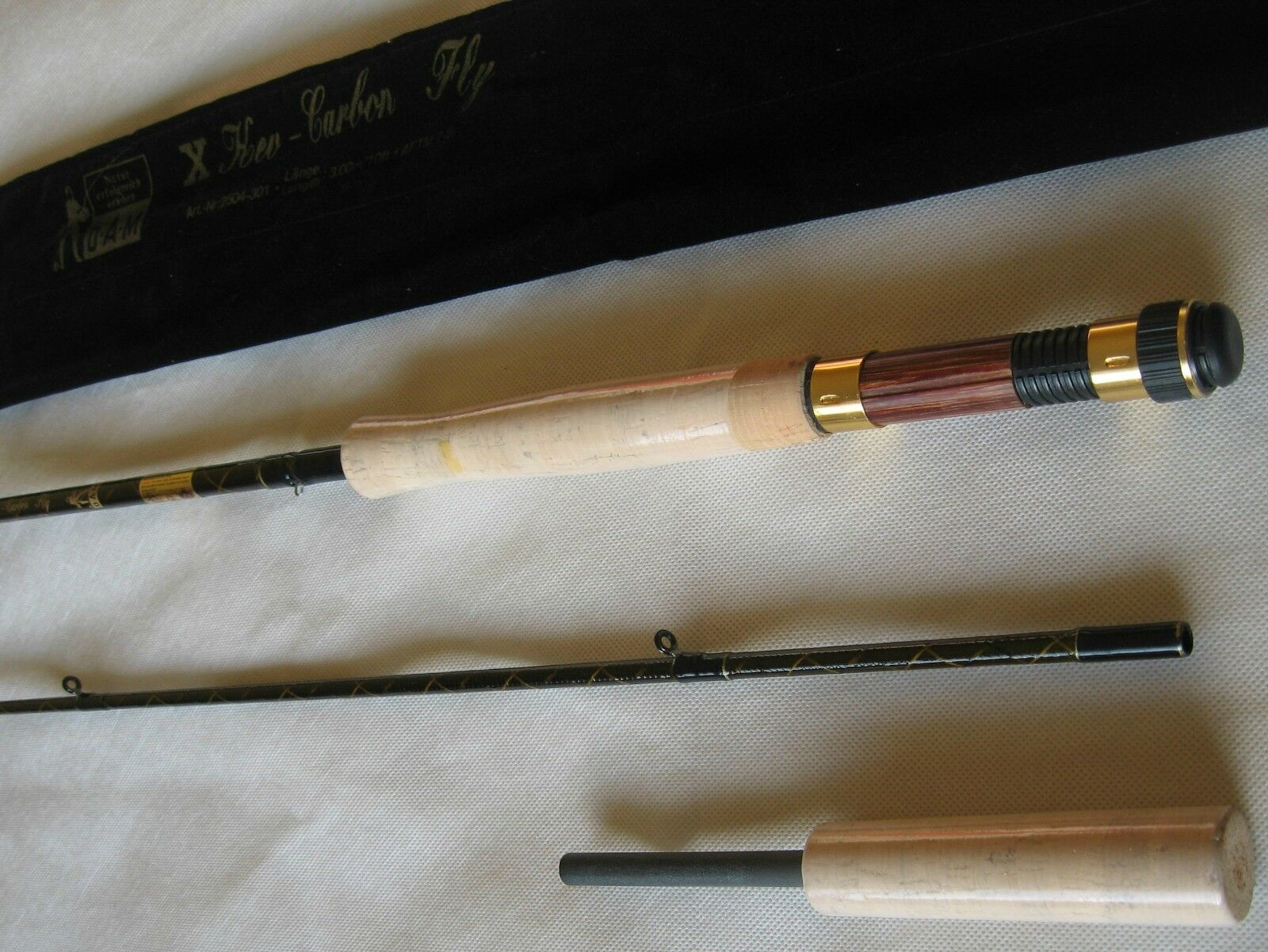 10 ft DAM 7/8 c Carbon Fly Rod 2 Piece For Salmon and Trout Fishing