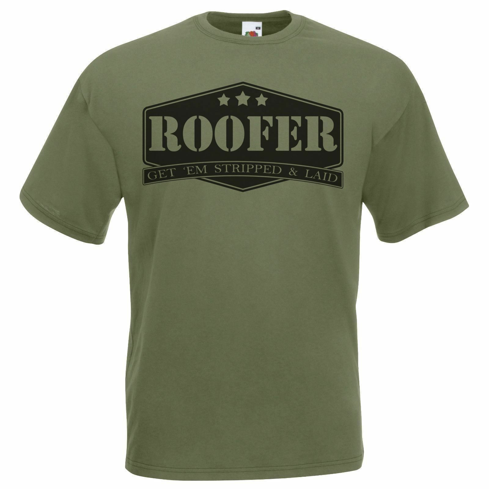 0a58e4090f Mens Olive Green Roofer T-Shirt Construction Worker Christmas Gift X-Mas  Idea Funny free shipping Unisex