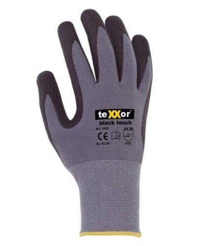 TEXXOR Guanti di montaggio Black Touch ® con nitrilica//poliuretano dimensioni wähbar