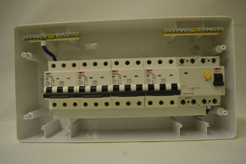 Three 3 Phase consumer unit,distribution board 4 pole RCD or isolation switch