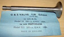 1959-66 AJS Matchless G2 250cc NOS exhaust valve GS V88