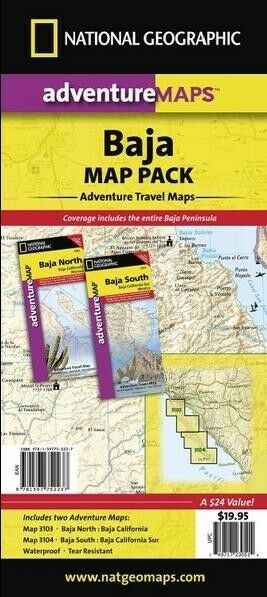 National Geographic Maps Ad01023051 Baja California Map Pack Bundle ...