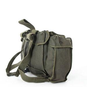 Belgian-Army-Canvas-Para-Bag-Rucksack-Mountain-Hiking-Pack-Daysack-Surplus