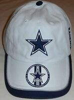 Dallas Cowboys Authentic Headwear Hat Cap One Size Adjustable Strap White