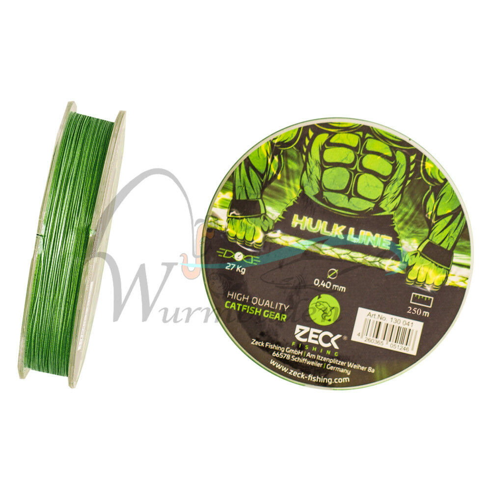 ( m) spinnschnur Wels a Pesca Intrecciato 0,40 mm 250m wallerschnur Wels corda