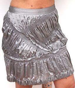 Skirt Mix uk 12 Burberry Ruffle Splendida 44 Prorsum Silk Italian gonna WTcYcn8I