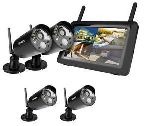UNIDEN-G3740-Guardian-Wireless-Surveillance-Security-System-4-Cameras-Shops-Home