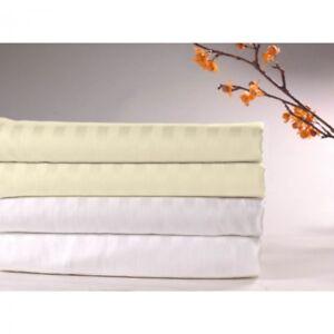 Sateen-Stripe-Flat-Sheet-300-Thread-Count-100-Cotton-Bedding-FAST-SHIPPING