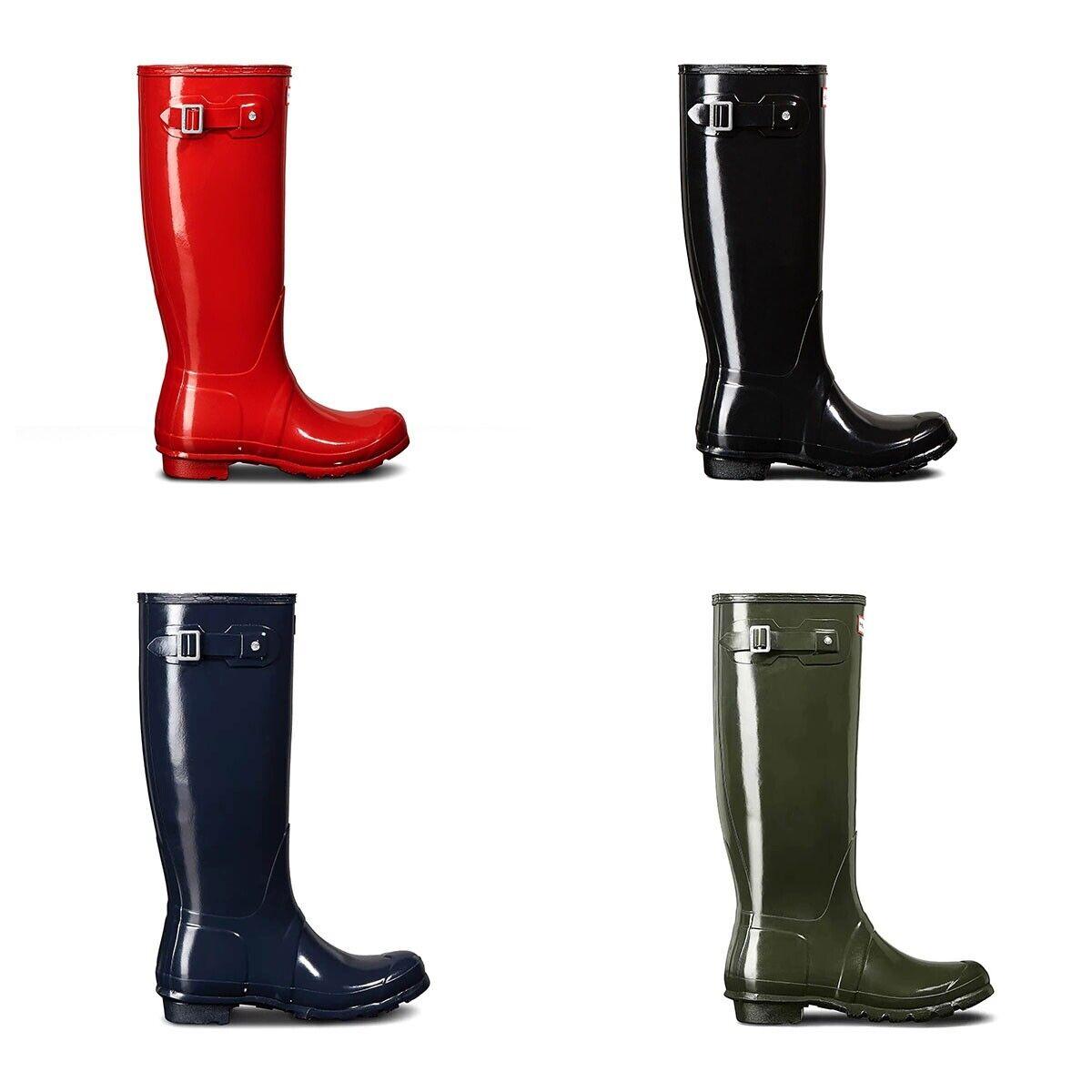 New Hunter Wellington Original damen Tall Gloss Rain Stiefel All Farbes All Größes