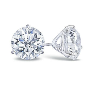 2-5-Carat-CZ-Studs-set-in-14K-Gold
