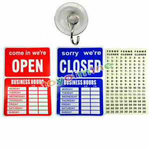 Fashion-OPEN-CLOSED-BUSINESS-HOURS-SIGN-Store-Window-New-35-X-24-cm
