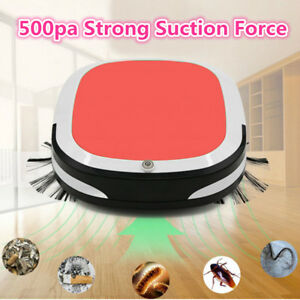 Red Smart Automatic Vacuum Cleaner Robot Home Office Dirt Removal Dust Sweeper