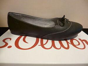 s-Oliver-Bailarina-Zapatilla-Bajo-Zapatos-Tacones-negros