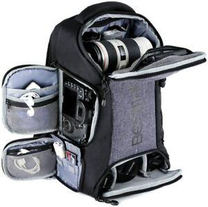 Beschoi-DSLR-SLR-Camera-Backpack-Bag-Waterproof-w-Rain-Cover-Padded-Shockproof
