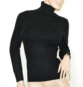Pull en roulé a35 femme noir col longues col manches jersey pull montant pull rqrOw4