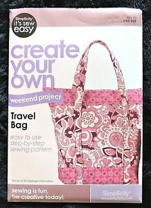Details About Simplicity Pattern Travel Bag 2 Styles 19 X 22 Create Your Own 9032399 New