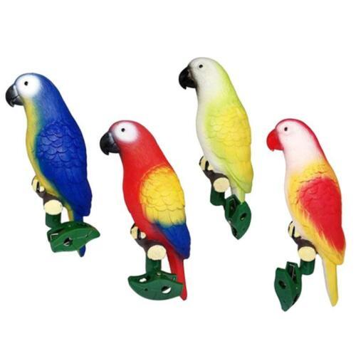 Solar Power Parrot Light Bird LED Night Light w//Clip Outdoor Garden Patio Path