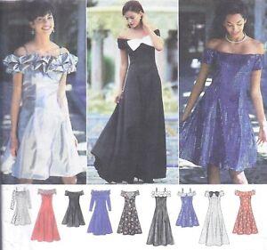 Vintage Off Shoulder Full Skirt 1990's Prom