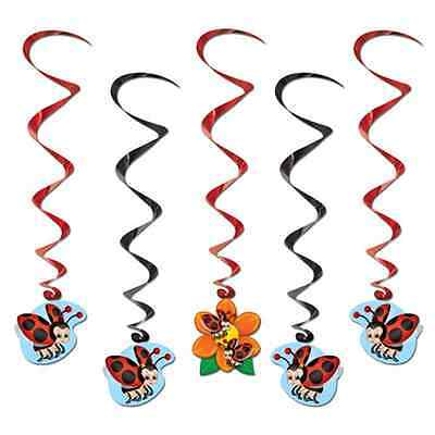 NEW LADYBUG WHIRL  PARTY DANGLING DECORATIONS