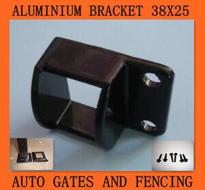 Pool Fencing Aluminium Fence Brackets Black 38x25 4pcs