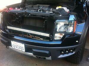 Ford raptor f150 mr led behind front upper grill 240w light bar kit image is loading ford raptor f150 m amp r led behind mozeypictures Image collections