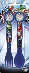 Avengers couverts en plastique fourchette & cuillère marvel ultimate garçons bleu sevrage enfant  </span>